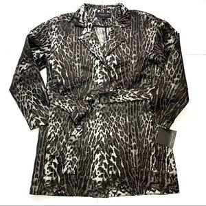 Marc New York Jacket Blazer Animal Print Coat Sm